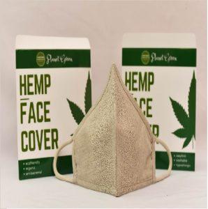 White hemp mask