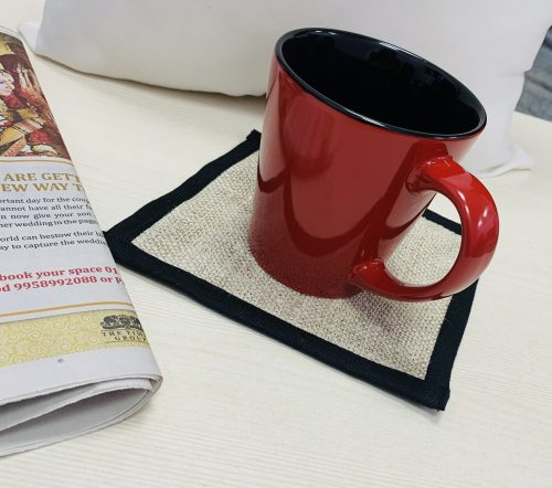 Florican - Set of Pure Hemp Handmade Placemat, Runner and Coasters