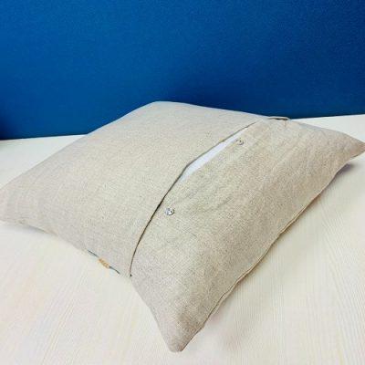 Tropical Safari Pure Hemp Handmade Cushion Cover
