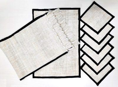 Hemp Handmade Placemat, Runner and Coasters