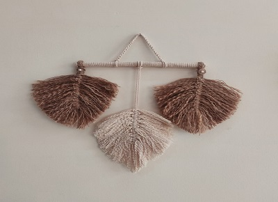 Jute and Macramé Leaf Wall hanging