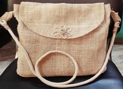 100 % Pure Hemp Handmade Sling Bag