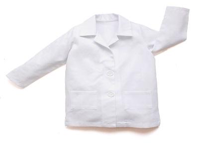 Cotton-Hemp Kids Lab Coat for Scientist Role Play Costume Set